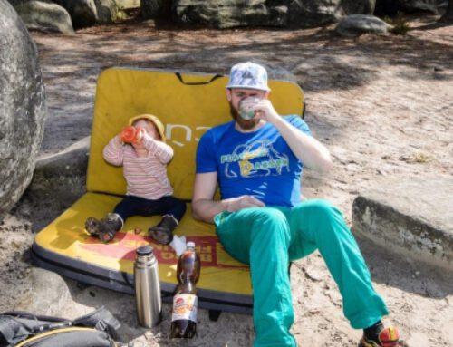 Familie und Bouldern: Die erste Reise